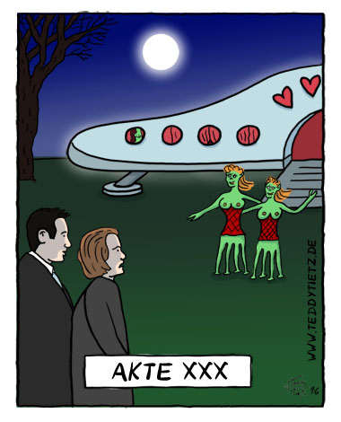 Teddy Tietz Cartoon der Kalenderwoche 6 - Akte XXX