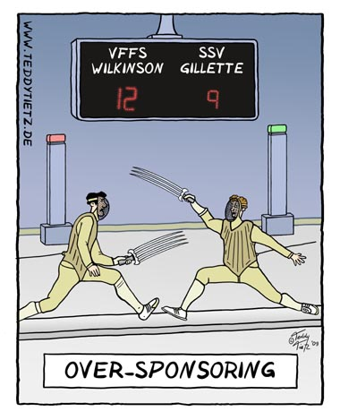 Teddy Tietz Cartoon der Kalenderwoche 33 - Over-Sponsoring