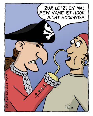 Teddy Tietz Cartoon der Kalenderwoche 31 - Captain Hook