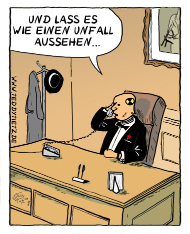 Teddy Tietz Cartoon der Kalenderwoche 29 - Dummy als Pate