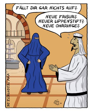 Teddy Tietz Cartoon der Kalenderwoche 26 - Arabische Ehekrise