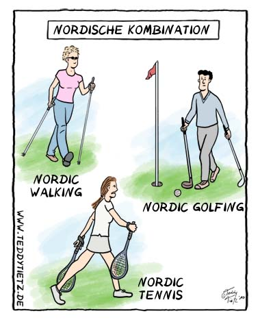 Teddy Tietz Cartoon der Kalenderwoche 41 - Nordische Kombination