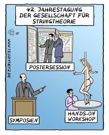 Teddy Tietz Cartoon der Kalenderwoche 29 - String Meeting